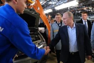 В.В. Путин на АВТОВАЗе